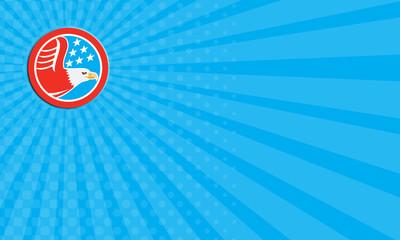 Business card American Bald Eagle Stars Circle Retro