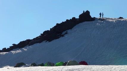 camping on Mt. Elbrus