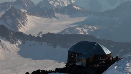 """The shelter """"11"""" on Mt. Elbrus"""