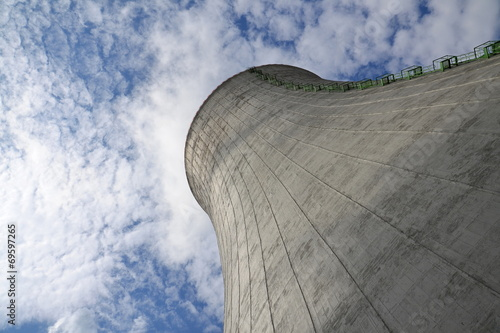 Cooling towers at nuclear power plant - 69597265