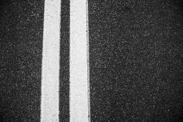 white double lines asphalt road background