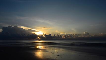 Sunrise in Ocean, Gulf of Thailand. HD