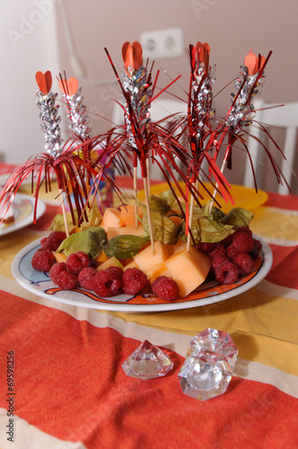 canvas print picture Snack Obstteller