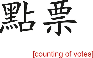 Chinese Sign for counting of votes