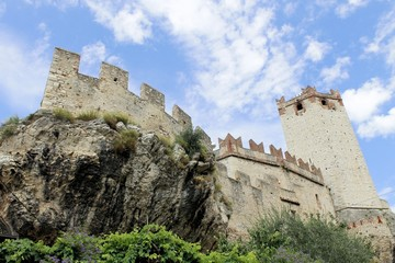 Castle of Malcesine on Garda lake in Italy