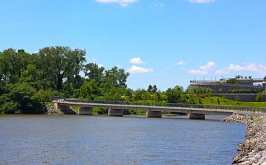 Overpass of Woodrow Wilson Bridge trail in summer.