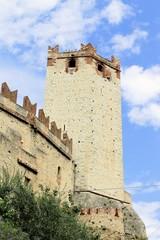 Castle of Malcesine on Garda lake in Italy