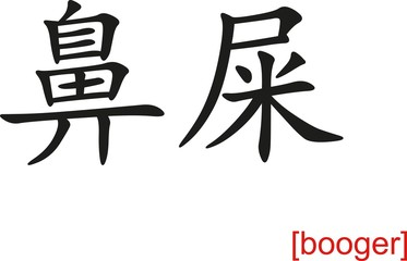 Chinese Sign for booger