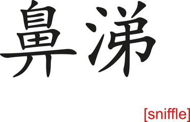 Chinese Sign for sniffle