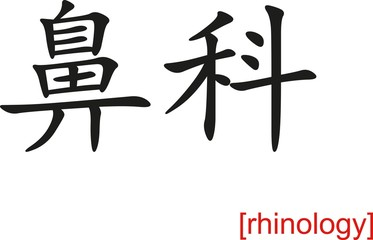 Chinese Sign for rhinology