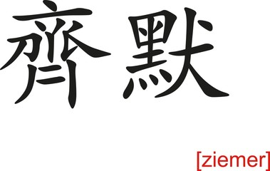 Chinese Sign for ziemer