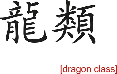 Chinese Sign for dragon class