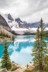 Moraine Lake and Valley of the Ten Peaks in Banff National Park