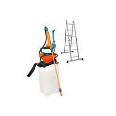 sprayer and stairs