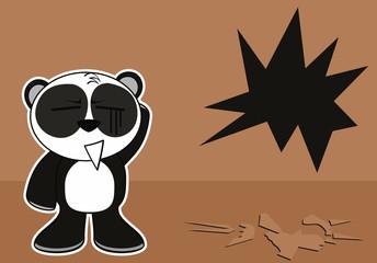 panda bear cute cartoon background