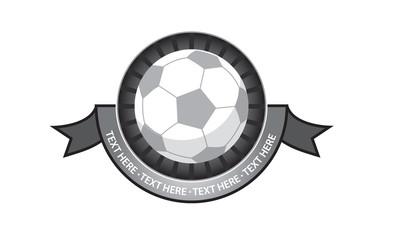 Soccer emblem retro