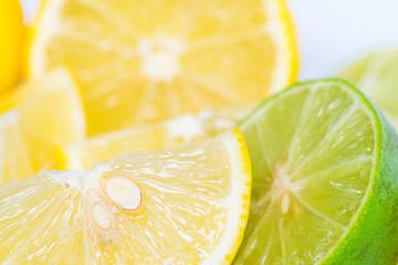 Lime slice close up