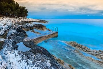 Croatian sea coast on the Losinj island at dawn