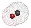 Carbon monoxide (CO) toxic gas molecule.