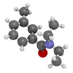 DEET insect repellent molecule.