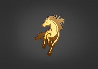 horse logo business design