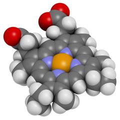 Heme B (haem B) molecule.