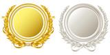 金銀の円形フレーム