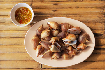 boiled wing shells
