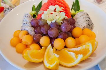 Fresh Fruits Sliced