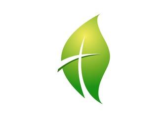 leaf,logo,religious,life,cross symbol,nature,botany,bio,ecology