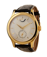 Men's gold watch isolated