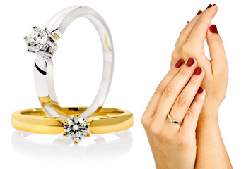 diamant ringe incl. clipping paths