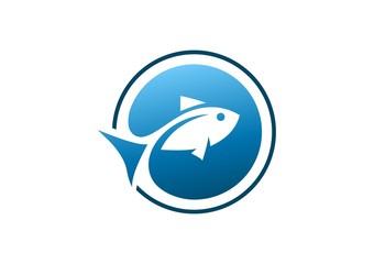 fish, logo, globe, swimming, creative, water, icon, symbol