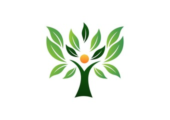 green, tree, logo, wellness, life, people, health, nature