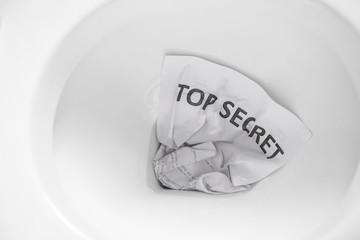 top secret document flush away