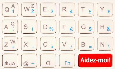 aidez-moi !, appel à l'aide sur clavier télécommande