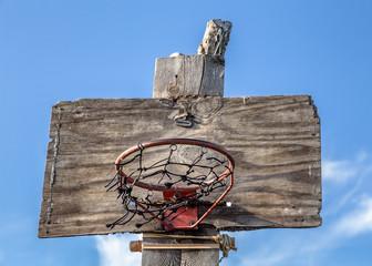 Handmade basketball basket