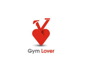 Gym Lover web Icons and vector logo