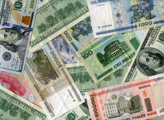 Background. US dollars and Belarus rubles