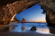 Leinwanddruck Bild - Cathedral Cove, New Zealand