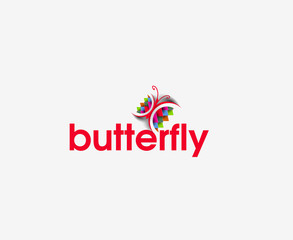 Butterfly web Icons and vector logo