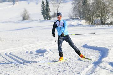 sportlicher Langläufer