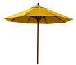 Yellow beach umbrella - 69608097