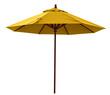 Leinwandbild Motiv Yellow beach umbrella
