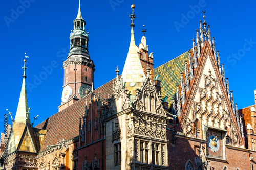 Town Hall on Main Market Square, Wroclaw, Silesia, Poland © PHB.cz