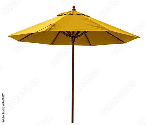 Yellow beach umbrella - 69608097