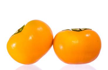 Orange ripe persimmon