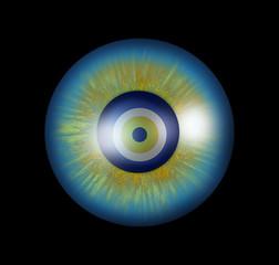 Turkish broken evil eye bead (Nazar)