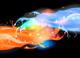 Fantastic colorful splashing abstract background