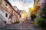 Fototapeta Uliczki - Mystic alley in italian old town © mRGB
